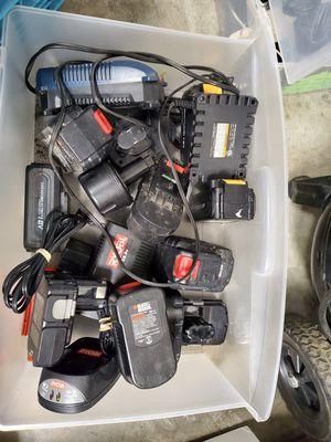 Large bundle power tool batteries for Sale in Gresham, OR
