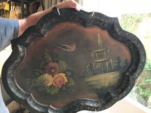 Hand Painted Tole Ware Tray for Sale in Houston, TX
