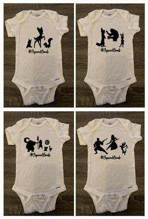 Adorable & Cute Squad Goals Sayings - Infant/Toddler Short-Sleeved Onesie - Mulan Moana Bambi Zootopia Lion King Frozen Pooh Toy Story for Sale in Sanford, FL
