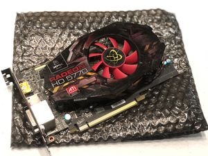 XFX ATI Radeon HD 5770 1 GB DDR5 2DVI/HDMI/DisplayPort PCI-Express Video Card HD577XZNFC for Sale in Anaheim, CA