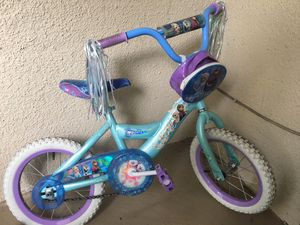 Huffs Frozen Disney themed kids bike for Sale in Atlanta, GA