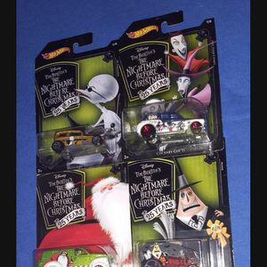 Hot Wheels Nightmare Before Christmas Great Bundle 6 Cars for Sale in Houston, TX