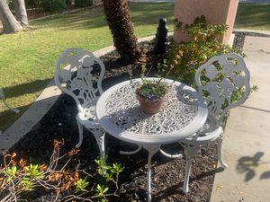 Antique iron garden bistro set for Sale in Modesto, CA