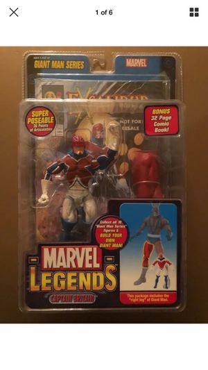 "2006 Marvel Legends Giant Man Series Captain Britain 6"" Action Figure for Sale in Laguna Beach, CA"