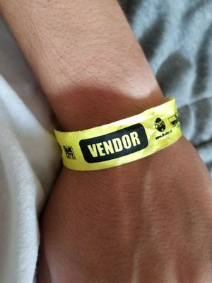 BLAZERS CUP VENDOR WRIST BAND for Sale in US