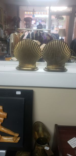Brass clam shells art deco bookends for Sale in Aberdeen, MD