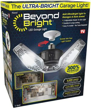 Beyond Bright LED Garage Light for Sale in Norwich, NY
