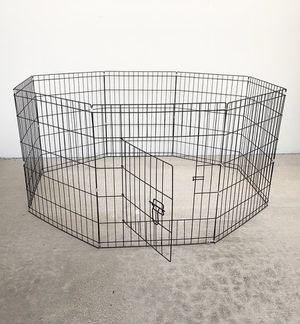 """New in box $35 Foldable 30"""" Tall x 24"""" Wide x 8-Panel Pet Playpen Dog Crate Metal Fence Exercise Cage Play Pen for Sale in South El Monte, CA"""