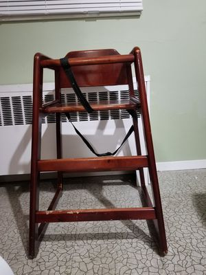 Crib, changing table and a high chair for Sale in East Meadow, NY