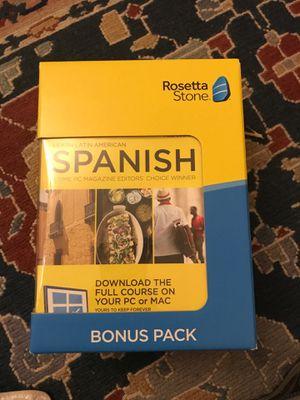 Rosetta Stone Spanish Bonus Pack for Sale in Evergreen, CO