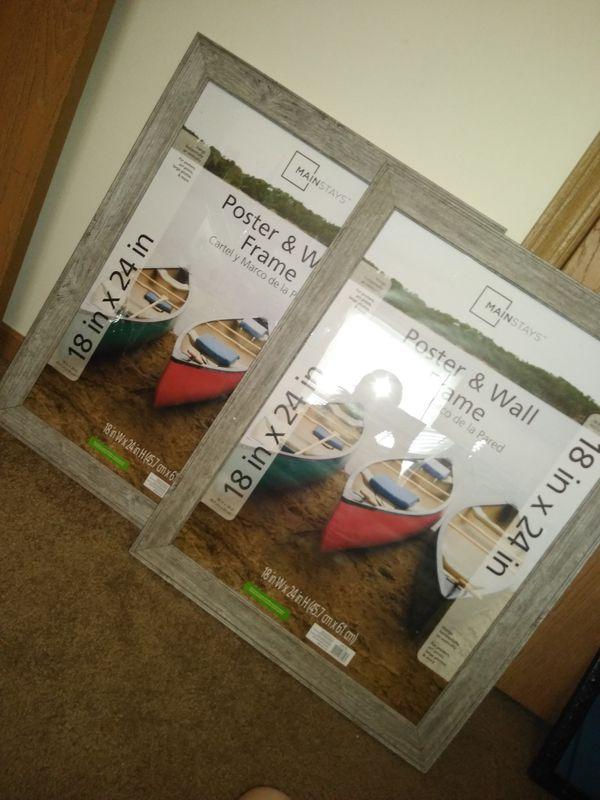 2- 18x24 inch poster frames