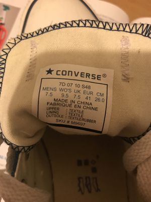 Allstar converse size 7.5 man and 9.5 women for Sale in San Francisco, CA