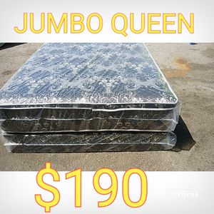 QUEEN JUMBO MATTRESS AND BOX SPRING for Sale in Los Angeles, CA