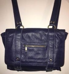 NEW. PURSE. VereVerto Navy Leather Repetto Convertible Backpack/Shoulder Bag for Sale in Gilbert, AZ