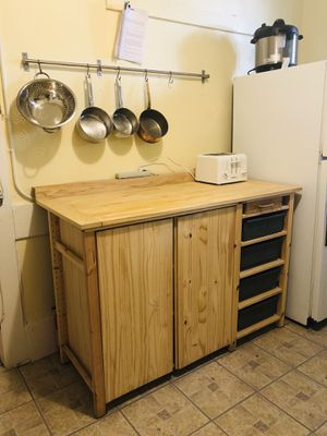 IVAR Kitchen Cabinet and Bëkvam Cart for Sale in Cambridge, MA