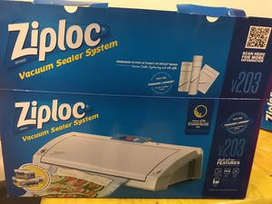 Ziploc Vacuum Sealer and bags for Sale in Fresno, CA