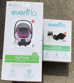 EvenFlo Nuture infant car seat with extra base for Sale in Belvidere, IL