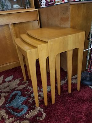 Rare set Heywood Wakefield nesting tables for Sale in Gulfport, FL