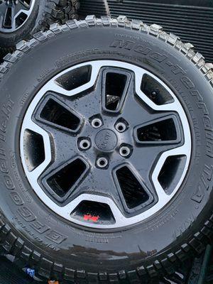 Jeep rubicon wheels rims jk for Sale in Rialto, CA