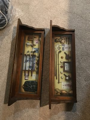 2 Decorative wall shelves. - golf history for Sale in Virginia Beach, VA