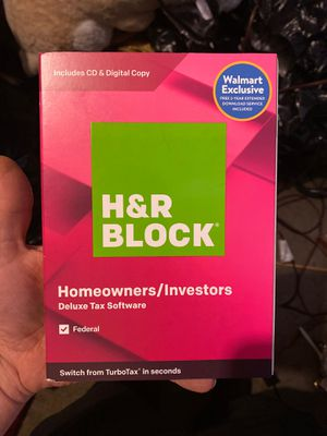 H&R Block homeowners and investors deluxe tax software for Sale in Fresno, CA