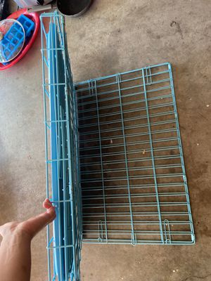 Medium size Electric blue dog animal cage crate for Sale in Keller, TX