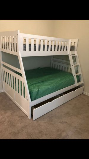 New white bunk bed with mattress for Sale in Houston, TX
