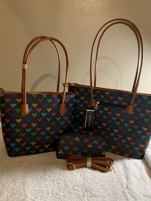 American Bee 3 piece neverfull set with GM tote MM tote &wallet with shoulder strap for Sale in Boca Raton, FL