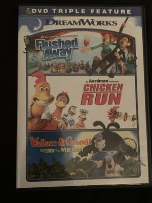 Flushed Away / Chicken Run / Wallace & Gromit Triple Feature Rare Out Of Print for Sale in Gallatin, TN