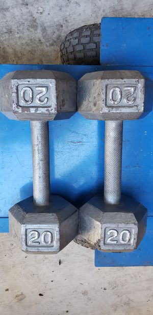 2x20lb hex dumbbell. for Sale in Orange, CA