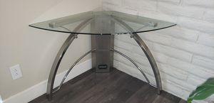 Glass Corner Desk. Can do pickup or delivery for Sale in Denver, CO
