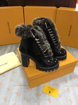 Louis Vuitton patent leather fur boots for Sale in Merrillville, IN