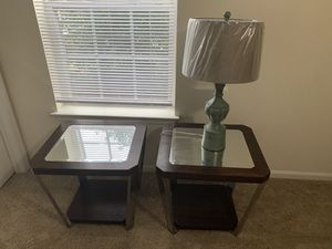 Two end tables & lamp for Sale in Columbia, SC