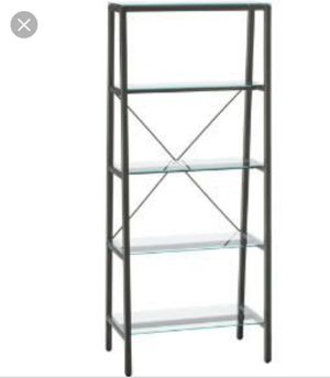 CB2 Dwight Bookshelf, silver/gray metal, glass shelves for Sale in Chicago, IL