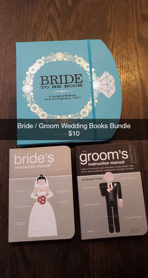 New. Bride /Groom Wedding Books and Planner - Naperville Pick up Only for Sale in Naperville, IL