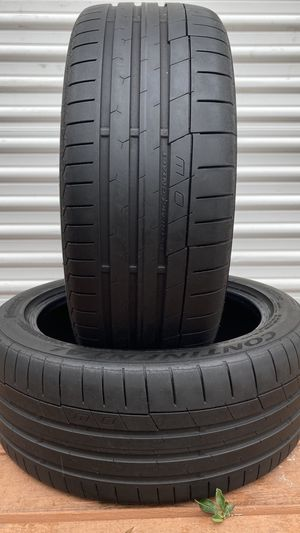Pair of 225/45/17 CONTINENTAL EXTREMECONTACT SPORT DW HIGHT TREAD for Sale in Largo, FL