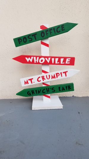 Custom Grinch Who Stole Christmas Sign for Sale in Ontario, CA