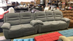 %50 OFF BRAN NEW 2-Piece Nationwide Furniture Recliner Sofa-Loveseat set . Gray Fabric for Sale in Hilliard, OH