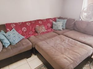 Beautiful lounge couch with ottoman for Sale in Oceanside, CA