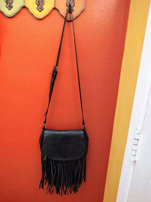 Aldo black leather fringe crossbody purse for Sale in Clearwater, FL