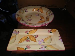 Collectable platter with matching. Bowl for Sale in Marietta, GA