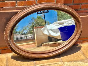 Vintage vintage Antique antique Mirror mirror Glass glass Wood wood Wooden wooden Oval oval Large large Circle circle Home home decor Decor for Sale in National City, CA