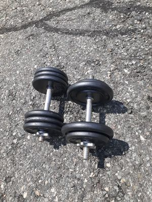 Adjustable Dumbbells - 65lbs Total Weight for Sale in Newton, MA