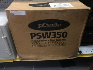 """Polk audio PSW350 100W 10"""" long throw powered subwoofer speaker audiophile for Sale in Orlando, FL"""