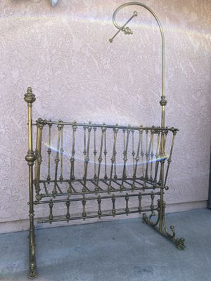 Antique Brass Bassinet for Sale in Santa Maria, CA