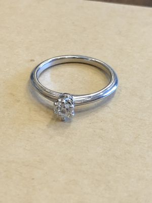Tiffany engagement ring platinum .26 CT for Sale in Greenwood, IN