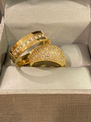 18K Gold plated Engagement/Wedding Ring Set - Code PK20 for Sale in Jacksonville, FL