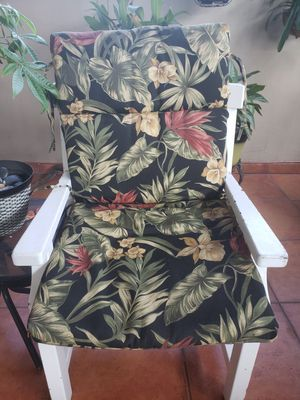 Patio cushions set of 4 - Tropical print for Sale in Miami, FL