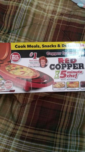 Red copper 5 minute chef makes it all for Sale in Fort Myers, FL