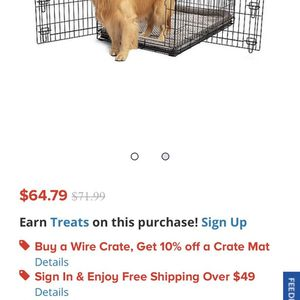 Dog Crate Comes Wit Kong Bed Little Ripped for Sale in Brockton, MA